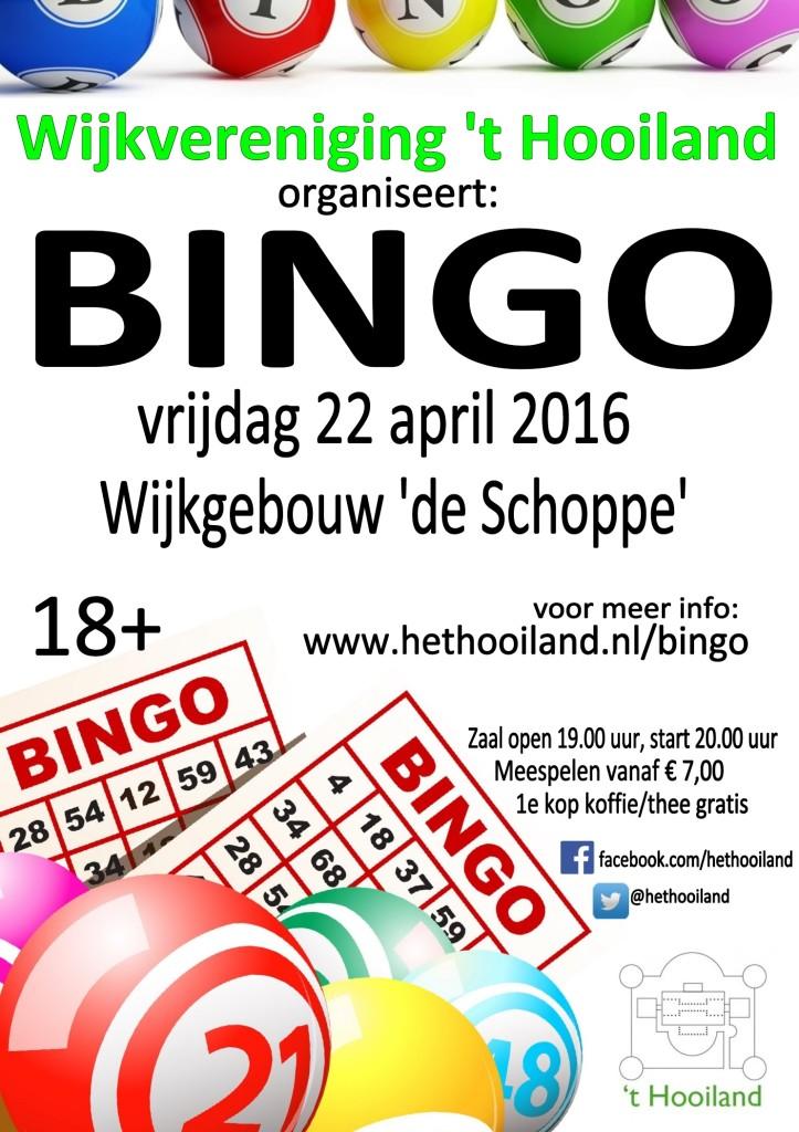 Flyer bingo 22 april 2016